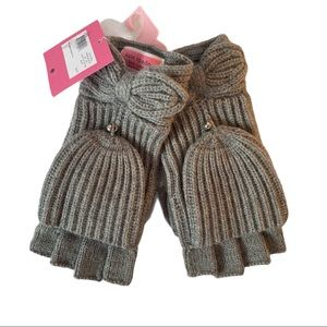 Kate Spade Pointy Bow Pop Top Gloves